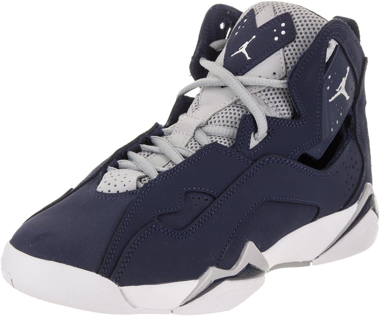 Nike Jordan Kids Jordan True Flight BG Midnight Navy White Wolf Grey Basketball shoes 5 Kids US