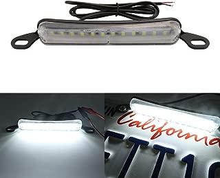 LivTee Extremely Bright License Plate Frame LED License Plate Lights Lamp, Xenon White(6000K)