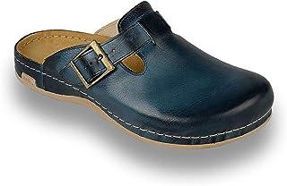 LEON 707 Sabots Mules Chaussons Chaussures en Cuir Homme