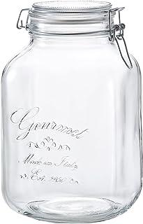 アデリア ガラス 保存瓶 角型 クリア 3100ml フーディージャーBOR イタリア製 H-7560