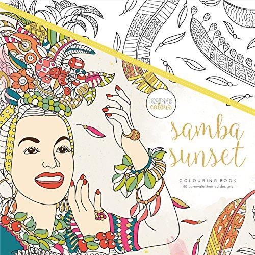 "Kaisercraft Samba Sunset KaiserColour Perfect Bound Coloring Book, 9.75"" x 9.75"""