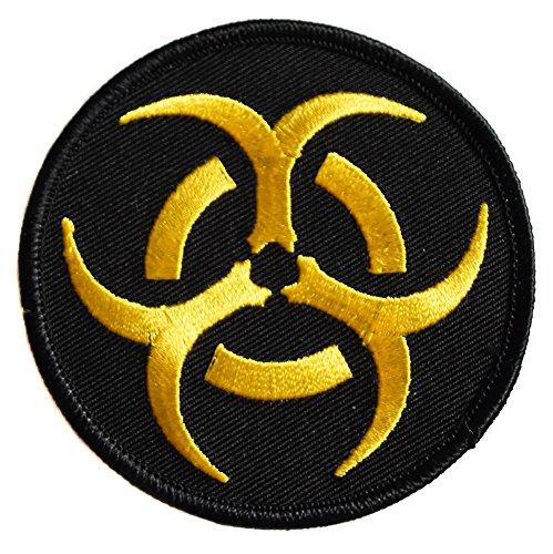topt rasta Ecusson brodé thermocollant Patch nucleaire radioactif radioactivité Nuclear Biker Moto 7,5cm