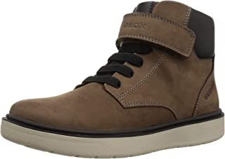 Geox Riddock Boy 1 Waterproof & Insulated Velcro Boot Ankle, Brown,