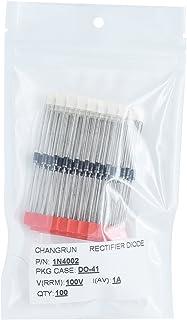 CHANGRUN 1N4002 Rectifier Diode 1A 100V DO-41 (DO-204AL) Axial Electronic Silicon Diodes 100pcs