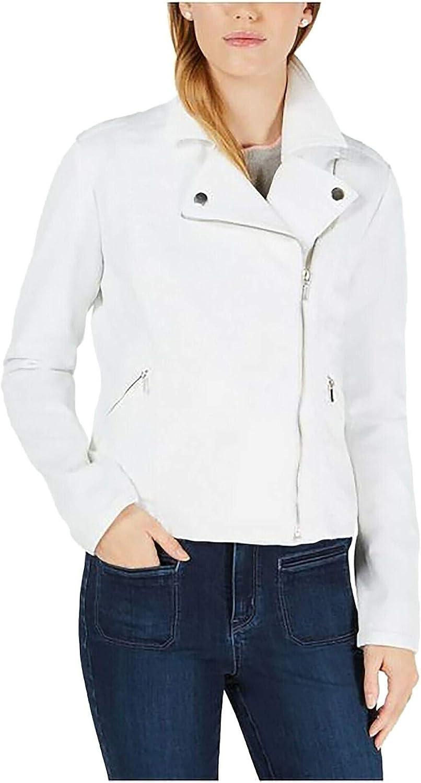 MAISON JULES Womens White Zip Up Jacket Size S