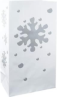 Lumabase 47124 24 Count Snowflake Luminaria Bags