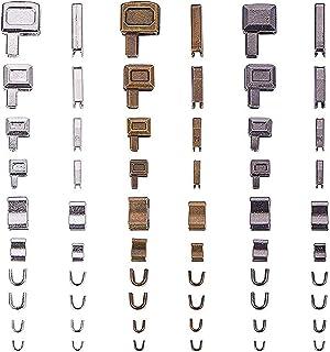 BESPORTBLE 24 conjuntos de corrediças deslizantes de cabeça com zíper de metal, corrediças inferiores com zíper para inser...