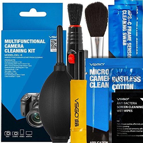 UES VSGO DKL-6 Sensor de cámara digital multifuncional 9-en-1, kits de limpieza de...