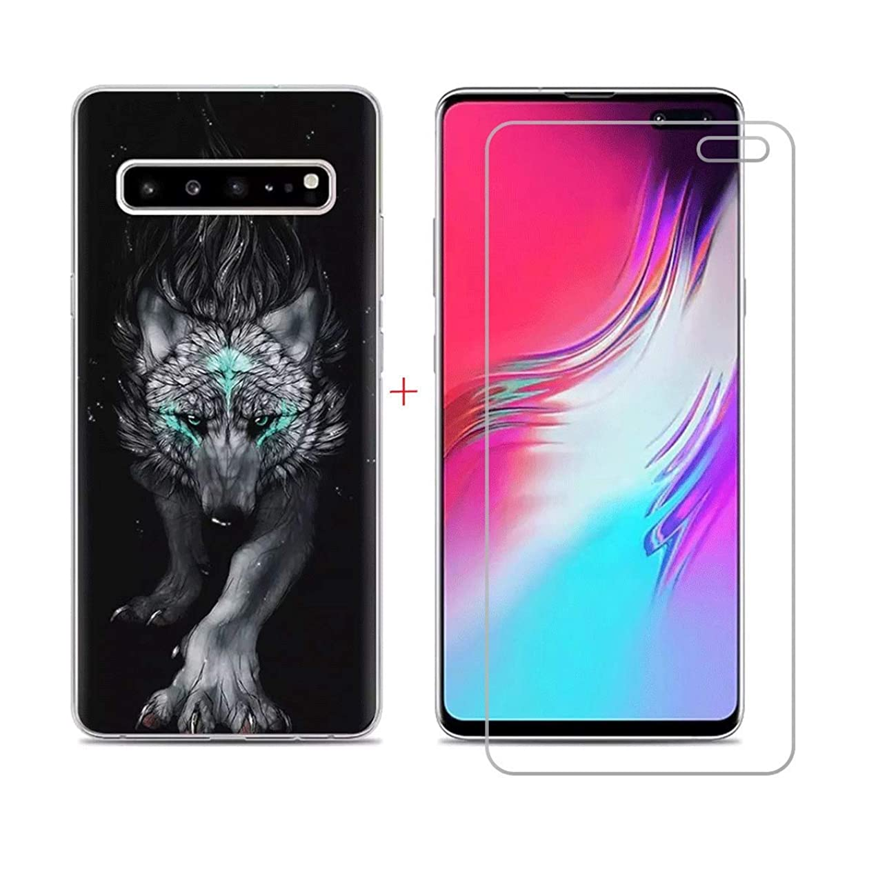 SZJCKJ Case + HD Screen Protector for Samsung Galaxy S10 5G (6,7