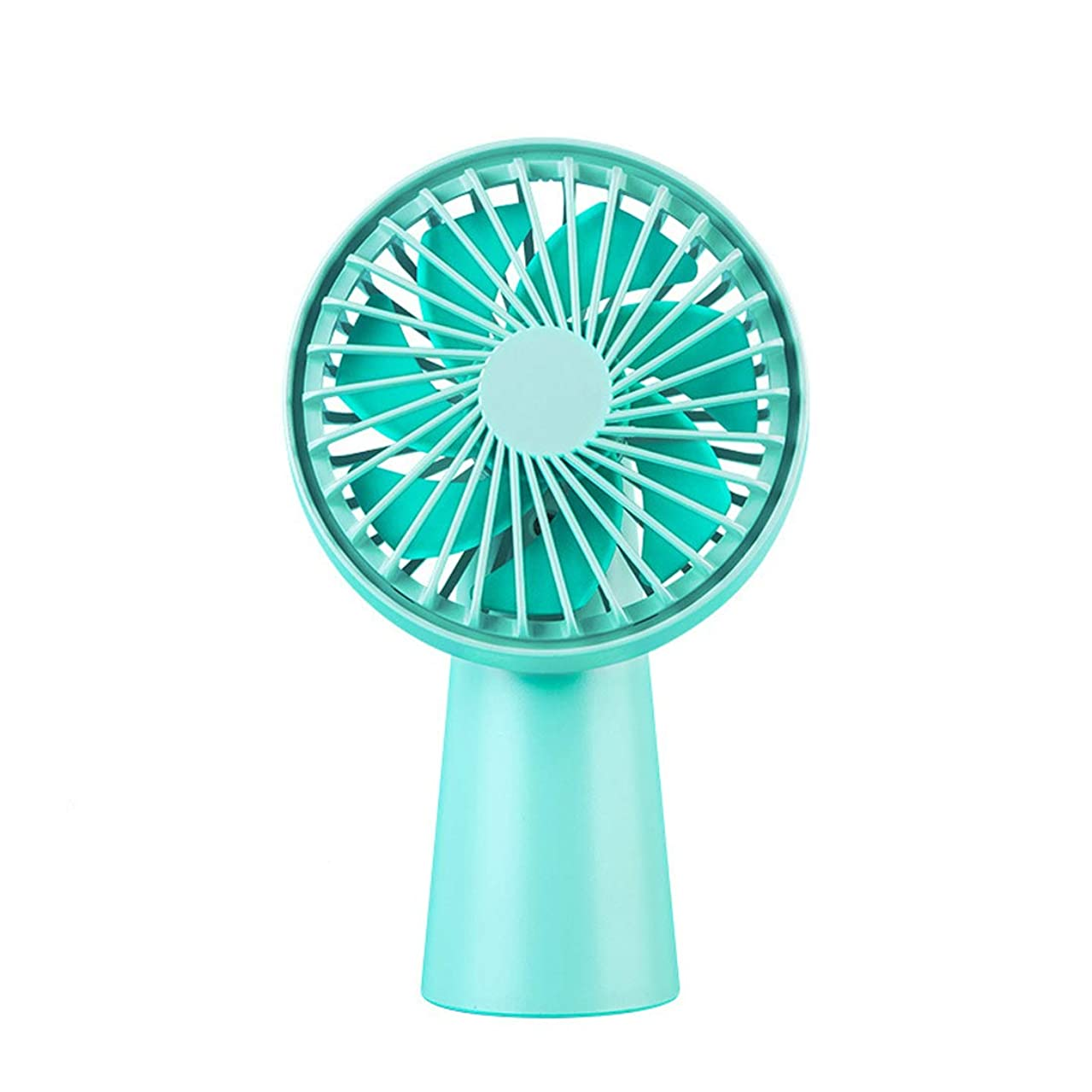 Dollcora Mini USB Rechargeable Fan, Battery Operated Portable Handheld Fan, Powerful and Quiet Fan Cooling for Room and Outdoor (Blue)