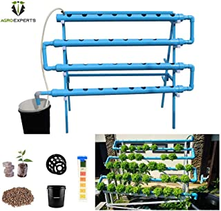 Agro Experts 64 Planter Hydroponic NFT Kit with pH and EC Meter
