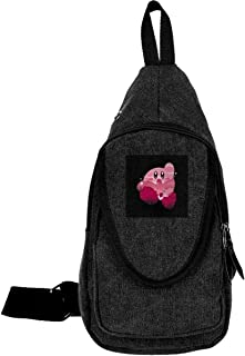 Kirby Silhouette Super Smash Bros Traveling Chest Bags For Men&Women Multipurpose Casual Daypack Hiking Shoulder Bag