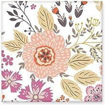 DIYthinker Dahlia Bloem Plant Verf Glanzende Keramische tegel Badkamer Keuken Wandsteen Decoratie Craft Gift