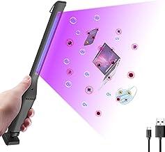 Mxlegnt Uv-Sterilisatorlamp, Uvc + Ozon Handheld Desinfectielamp, Oplaadbare Ultraviolette Led-Luchtreiniger Met Usb-Kabel...