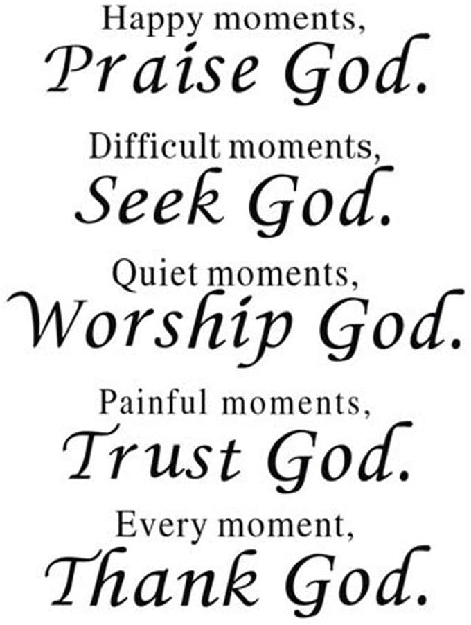 Wall Vinyl Max 78% OFF Decal Quote Sign Christian DIY Ranking TOP11 Art Sticker Praise God