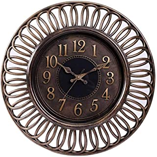 Pan Emirates Damarion Wall Clock, Brown - 40.6 x 4.3 x 40.6 cm