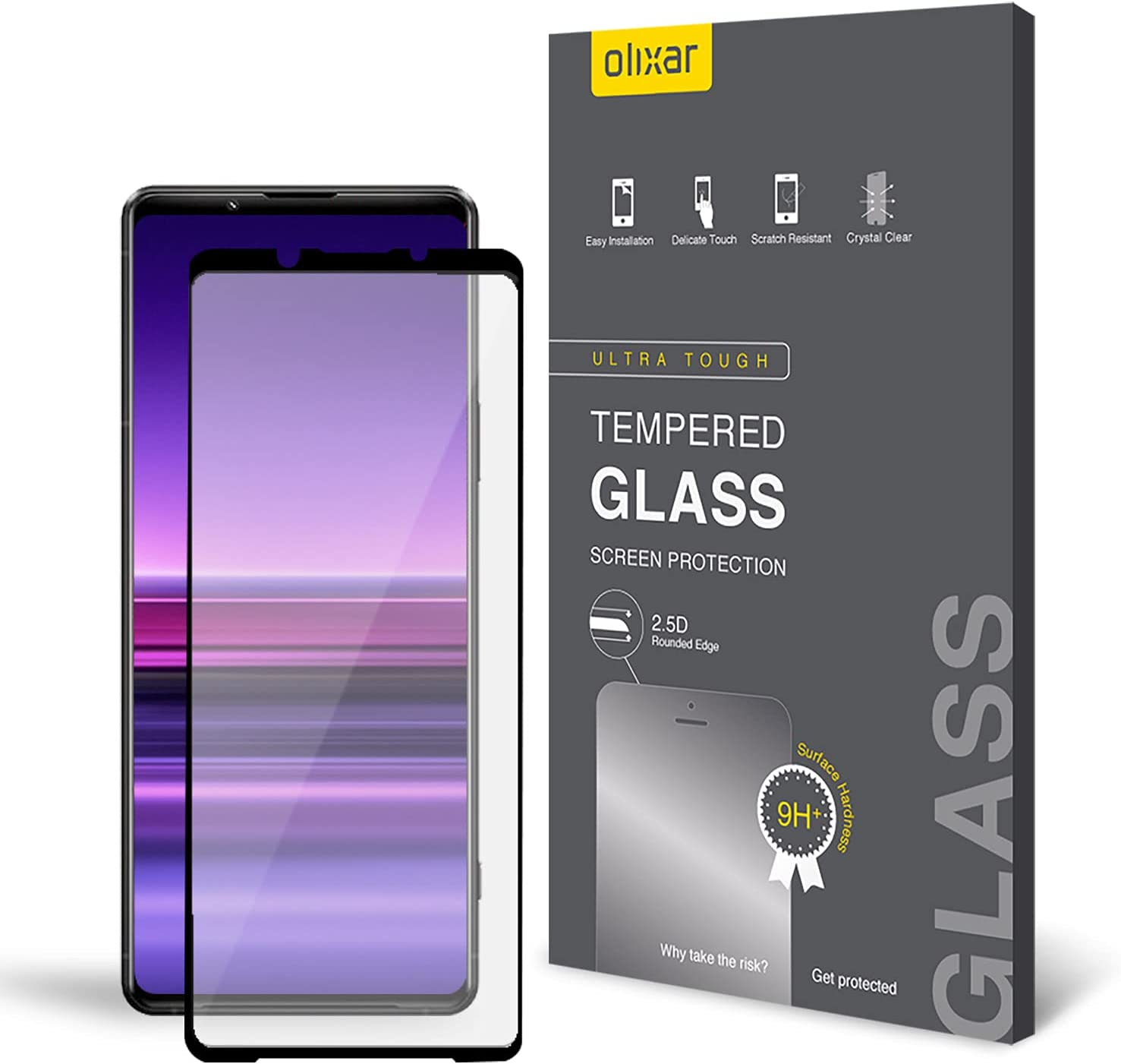Olixar Screen Protector for Sony Xperia 1 III, Tempered Glass - Reliable Protection, Supports Device Features - Full Video Installation Guide