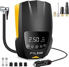 FYLINA Auto Air Compressor Tire Inflator, 12V DC Portable Air Compressor Pump, Auto Shot..