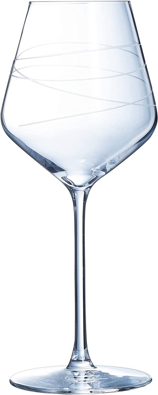 Eclat P0858 - Juego de 4 copas de vino (38 cl), color blanco
