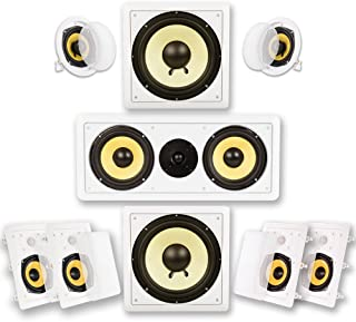 Acoustic Audio HD725 7.2 Home Theater Bocina System (White)