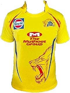 Chennai Super Kings (CSK) IPL T-20 Cricket Half Sleeve Dhoni 7 Cricket Jersey 2019