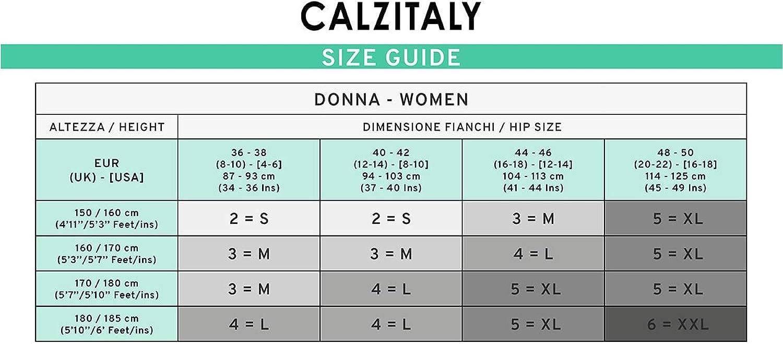 Calceter/ía Italiana | Az/úl S L Negro 70 DEN Panty Compresi/ón Fuerte Factor 10 mm//Hg Natural CALZITALY Medias de Descanso M Xl