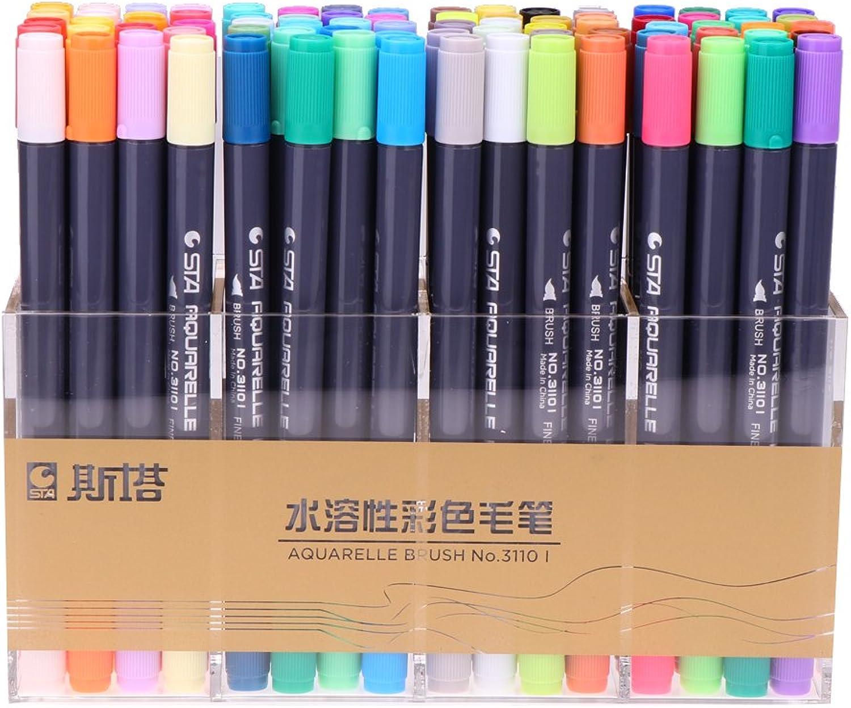 Tienda de moda y compras online. Homyl 80 Colors Acuareladores Marcadores de Acuarela de de de Doble Punta Regalo para Artistas Estudiantes  ventas en linea