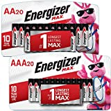 Energizer MAX AA Batteries & AAA Batteries Combo Pack, 20 AA and 20 AAA (40 Count)