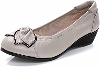 Sketo Women's Genuine Leather Comfort Low-Heeled Wedge Pump(UP to 66% Off)