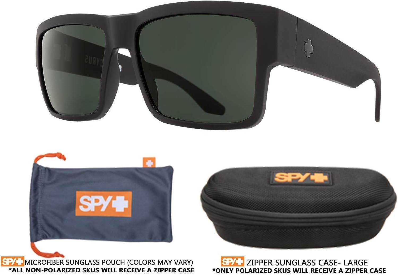 SPY Cyrus Square Sunglasses For Men + FREE Complimentary Eyewear Kit