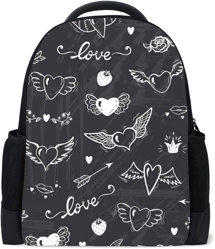ZHONGJI School Laptop Backpack Cute Unicorn Head Flower Travel College Work Business Computer Bag Durable Lightweight Camping Outdoor