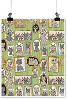 Canvas Prints Artwork Framed Pictures of Cute Cats on The ating Lovely Memories Moments Artwork Wall,16