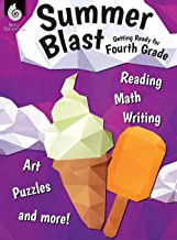 Summer Blast: Getting Ready for Fourth Grade – Full-Color Workbook for Kids Ages 8-10 - Reading, Writing, Art, and Math Wo...