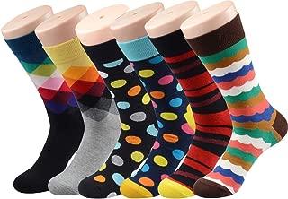 Men's Fun & Funky Colorful Cotton Dress Socks
