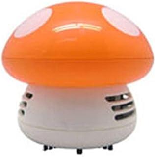 kelebin Portable Cute Mini Mushroom Corner Desk Table Dust Vacuum Cleaner Sweeper