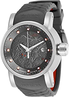 Men's S1 Rally Stainless Steel Automatic-self-Wind Watch with Silicone Strap, Grey, 24 (Model: 28172)
