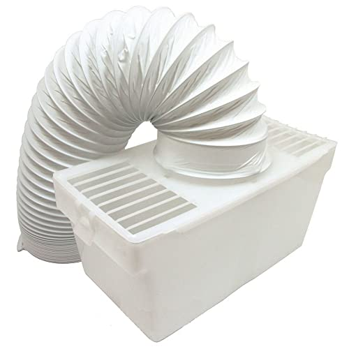 Hoover 4 inch Tumble Dryer Condenser Air Vent Kit White Indoor Box