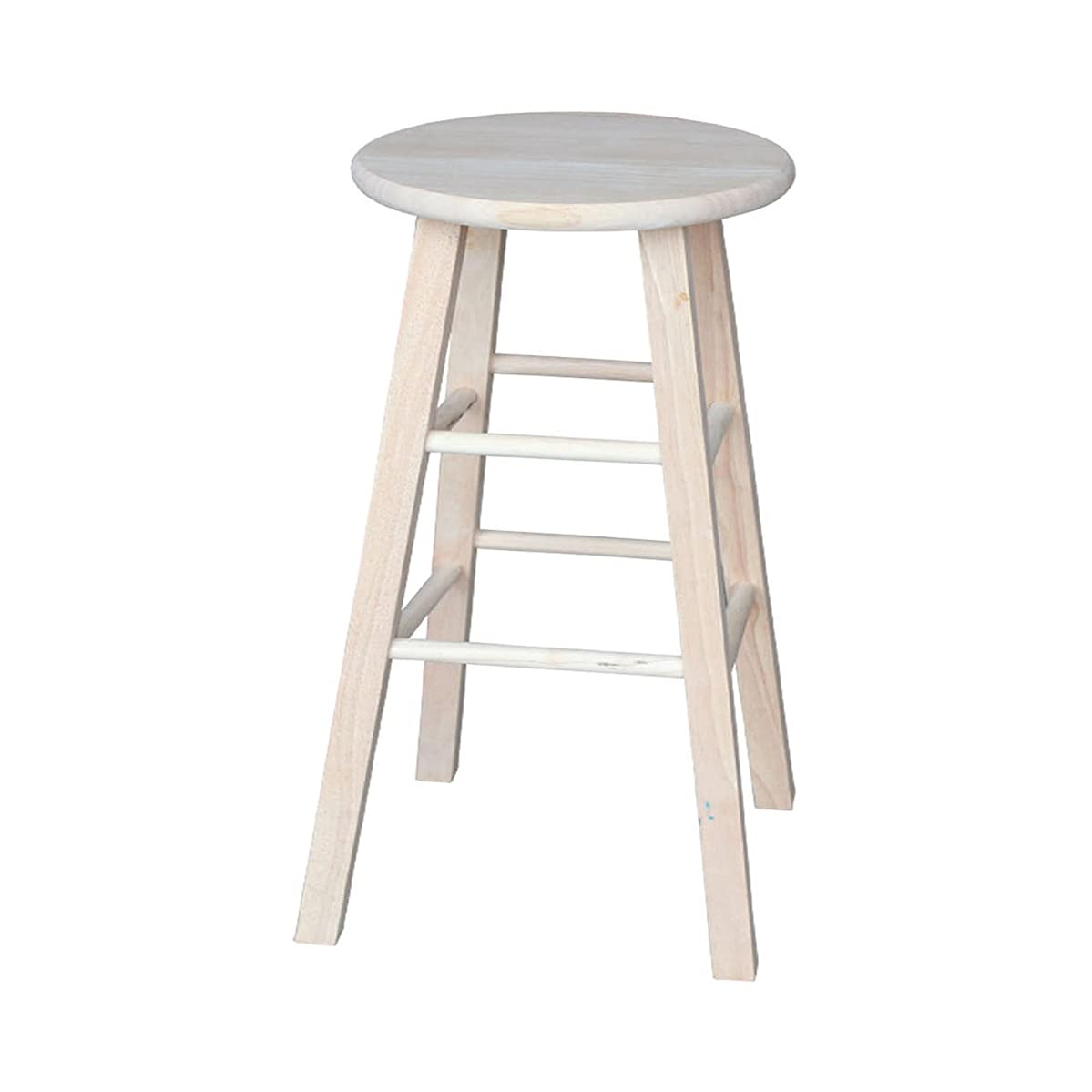 International Concepts 1S-530 30-Inch Round Top Stool, Unfinished