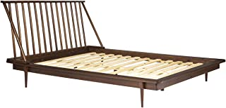Walker Edison Furniture Company Modern Wood Queen Spindle Bed - Walnut