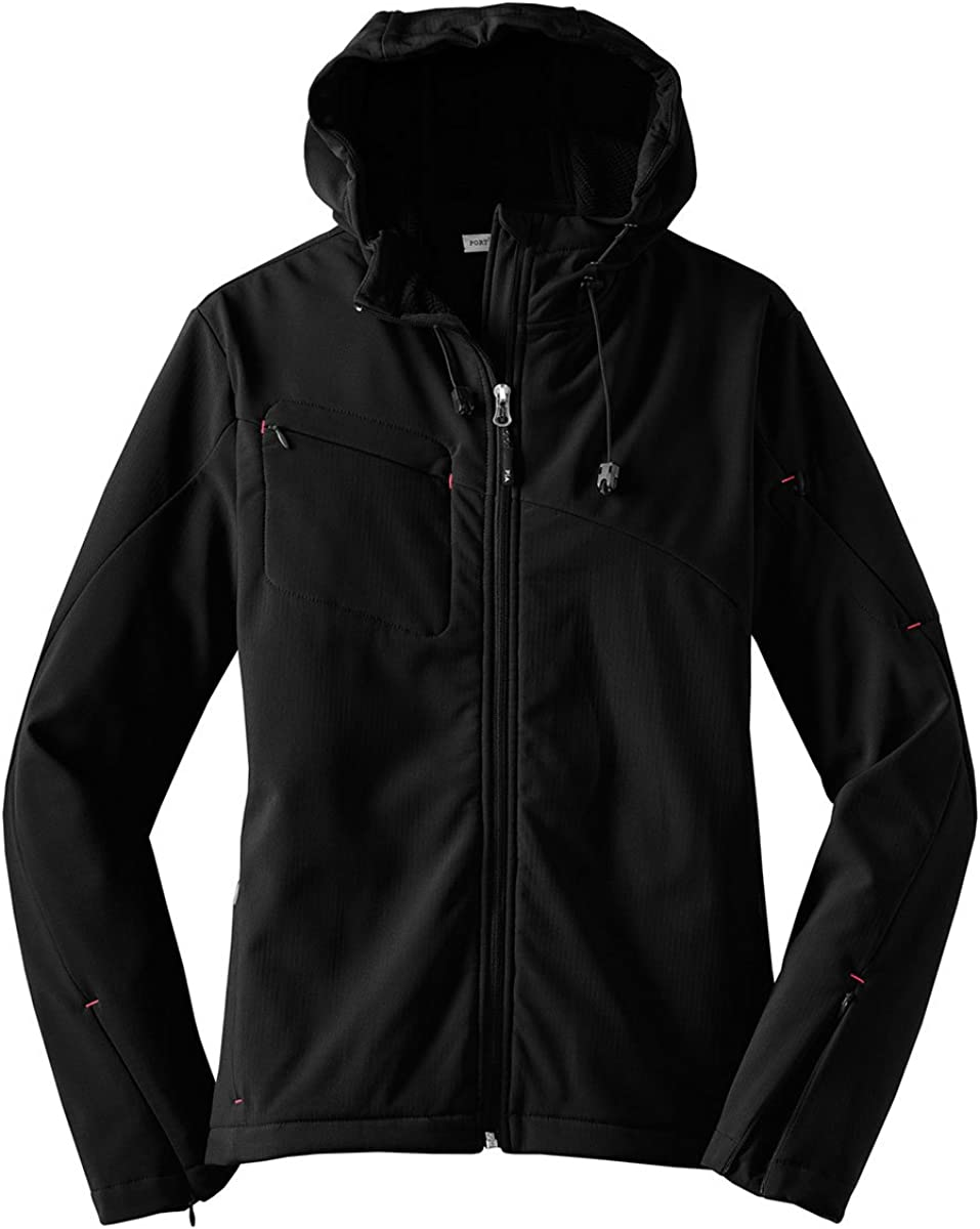 Port Authority Ladies Dealing full price reduction Textured Hooded Shell Japan Maker New Soft Jacket