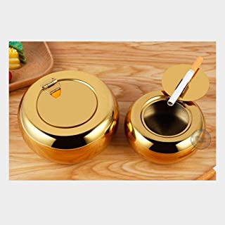 Ash Tray Ashtray Round Stainless Steel Ashtray Home Party Bar Decoration Ash Holder for Gift Cigarette Lighters & Smoking ...