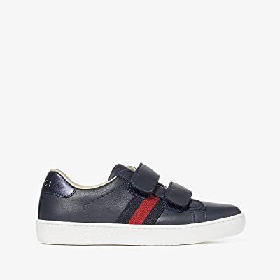 Gucci Kids New Ace V.L. Sneakers (Little Kid) (Blue) Kids Shoes