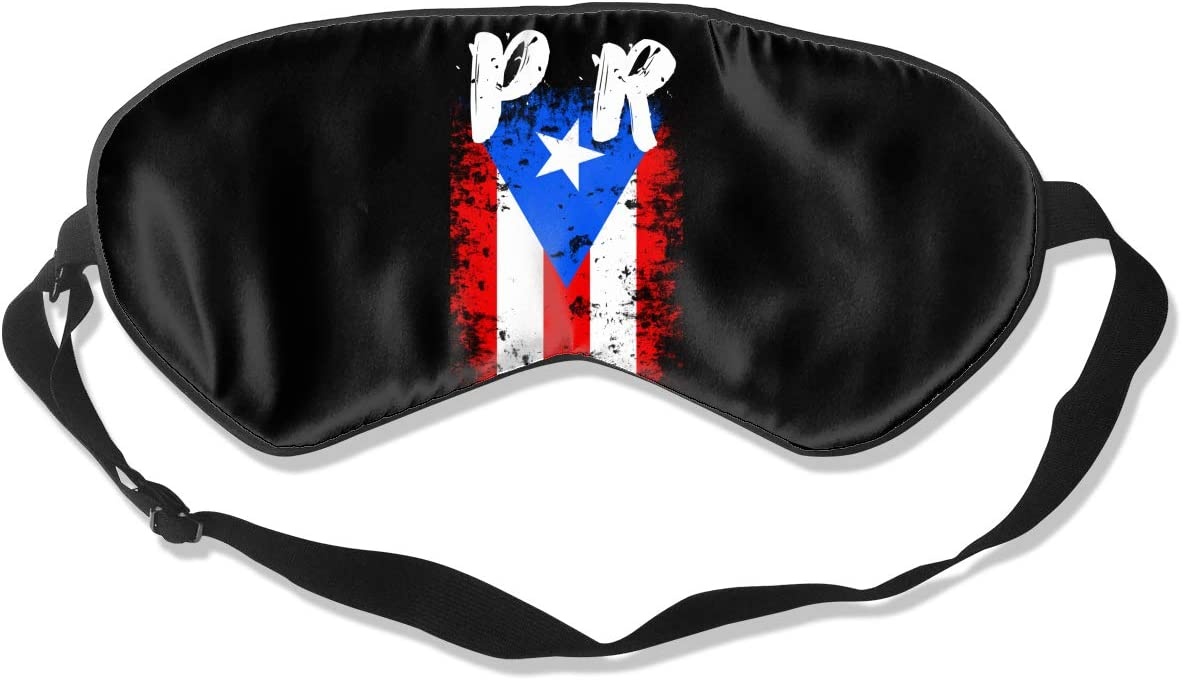Puerto Rico Max 57% OFF PR Flag Eye Sleeping Sil Mask 100% 4 years warranty Double-Sided
