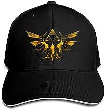 Corrine-S The Legend of Zelda Wind Waker HD Outdoor Hip Hop Cotton Snapback Hat Adjustable Black