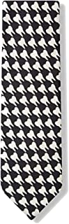 Men's Black & White Microfiber Dentist Teeth Necktie Neck Tie Neckwear