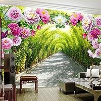 3D壁画壁紙庭の花フラワードアギャラリー拡張スペース壁紙リビングルーム寝室ソファ背景壁紙-400x280cm