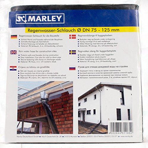 Marley Dachrinnen Regenwasser Schlauch DN 75-125 Fallrohr 5m inkl Schelle