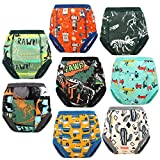 8 Packs Toddler Training Underwear for Boy and Girls Strong Absorbent Cotton Training Pants for Baby Potty Training 4T Blue