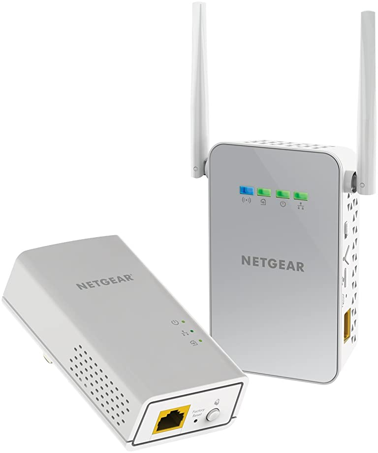 NETGEAR Powerline 1000 Mbps WiFi, 802.11ac, 1 Gigabit Port (PLW1000-100NAS)