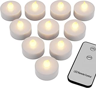 Deuba 10 LED Teelichter mit Fernbedienung Flackernde Batteriebetriebene Kerzen inkl...